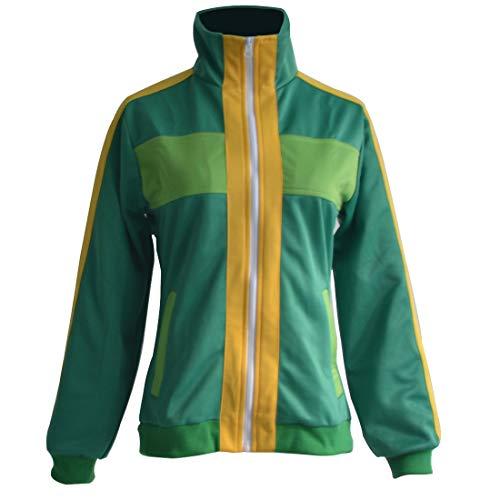 HOLRAN Persona 4 Chie Satonaka Cosplay Costume Coat (Men-XXXL, Green)