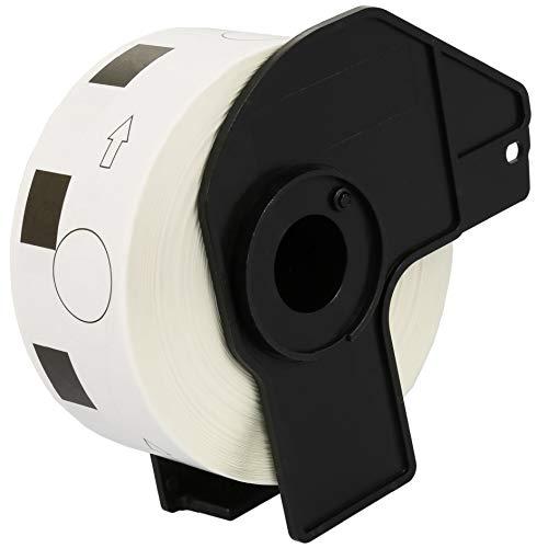 DK11218 24mm x 24mm Runde-Etiketten (1000 Stück/Rolle) kompatibel für Brother P-Touch QL-500 QL-550 QL-560 QL-570 QL-700 QL-710W QL-720NW QL-800 QL-810W QL-820NWB QL-1050 QL-1060N QL-1100 QL-1110NWB