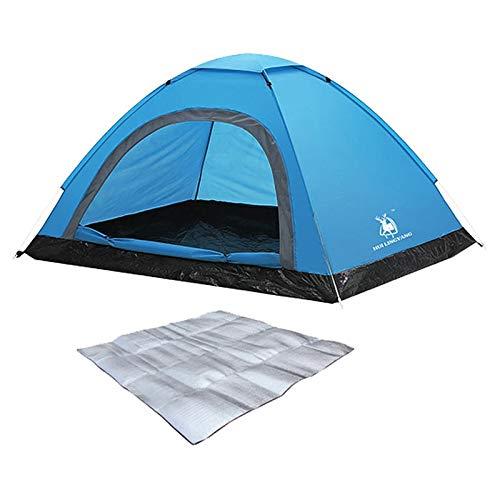 LX Tienda al aire libre totalmente automático engrosamiento interior al aire libre doble camping camping pareja ocio tienda azul