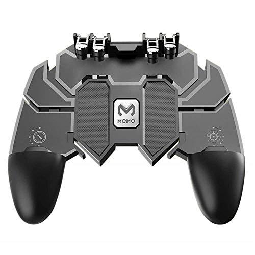 DLXX Neue Peripheriegeräte tetik pubg Joystick-Controller für Samsung Android PUBG Telefon PUBG Trigger Controller Button Gamepad Handyspiel, Schwarz