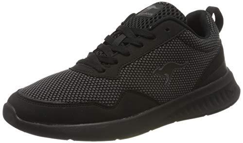 KangaROOS Herren KL-A Essent Sneaker, Schwarz (Jet Black/Mono 5500), 43 EU