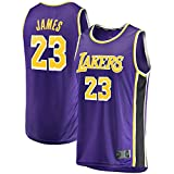 HUOJIAN Púrpura - Casual Baloncesto Jersey LeBron Away Jersey #23 Malla Casual Lakers Sport Chaleco James Top Sin Mangas Angeles Camiseta Los Transpirable Tela