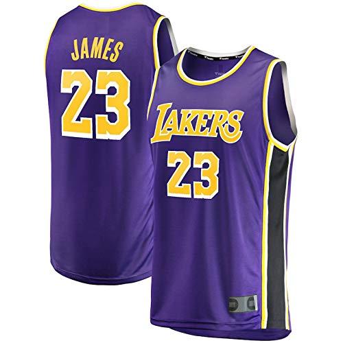 HUOJIAN Púrpura - Casual Baloncesto Jersey LeBron Away Jersey #23 Malla Casual Lakers Sport Chaleco James Top Sin Mangas Angeles Camiseta Los Transpirable Tela