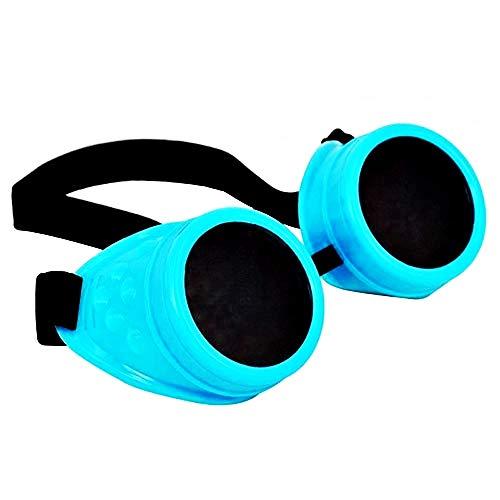 Lovelegis Gafas de sol vintage - steampunk - Victoriano - vintage - turquesa - Idea de regalo de cumpleaños