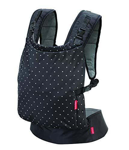Infantino Zip Travel Babytrage, Reise-Babytrage, Baby Carrier, schwarz