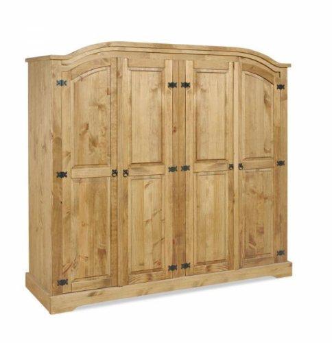 Mercers Furniture Corona 4 tür Bogen top Schrank, Holz, Antique Wax, 195 x 57 x 189 cm