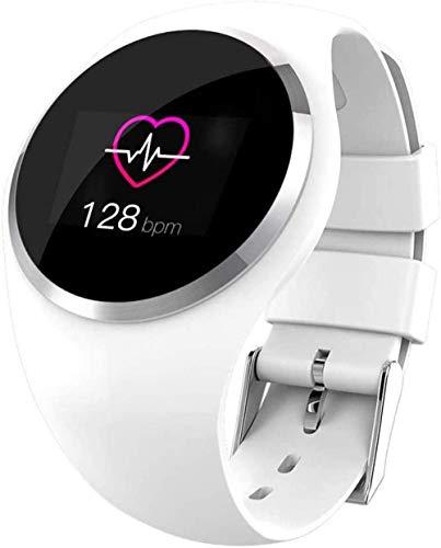JSL Reloj Inteligente Moda Bluetooth Pulsera Hombres Mujeres Ritmo Cardíaco Presión Arterial Podómetro Niños Deportes Relojes Impermeable Fitness Tracker-Blanco