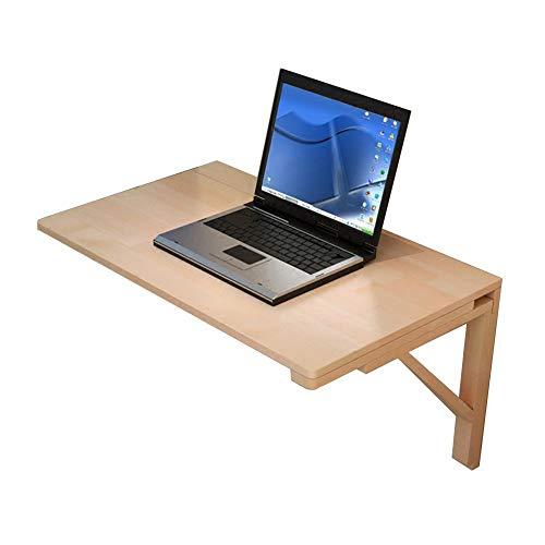 Mesa plegable Tabla pared sólida de madera plegable de cocina de pared mesas de estudio Sala de estar Computer Organizador Niño estación de trabajo dinding de alas abatibles (Tamaño: 80 x 40 cm)