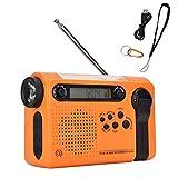 DWXN Radios de Viento Radios Portátil Tubo Ligero Radio de Emergencia A Set USB Recargable Novedad Power Bank para jardín Informal al Aire Libre
