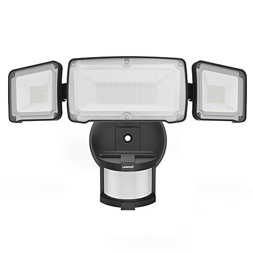 LEPOWER 35W LED Security Lights Motion Sensor Light Outdoor, 3500LM Motion Security Light, Waterproof IP65, 5500K, Full Metal, 3 Head Motion Detected for Garage,Porch,Yard (NOT Solar Powered)