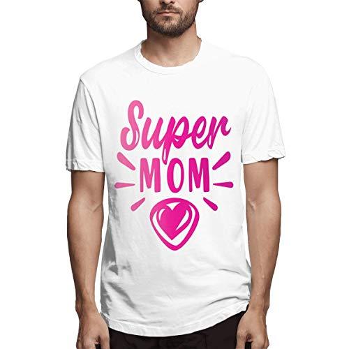 Shirt Muttertag Super Mom Ebc Herren Baumwolle lässig T-Shirt