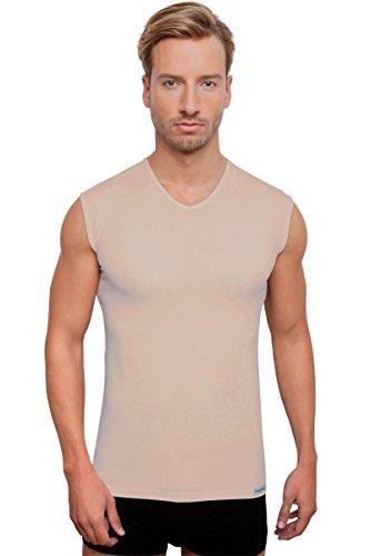 Schaufenberger ANTIBAKTERIELL Top UNSICHTBAR Unterhemd ohne Arm - geruchsneutral, Nude, Größe S