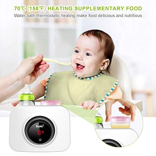 Bable Flaschenwärmer丨Sterilisator für Babyflaschen丨Babykostwärmer丨Multifunktionale Baby Flaschenwärmer mit Ernährungsschutz-Technologie and LCD Bildschirm - 8