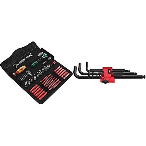 Wera 05135926001 Juego de herramientas de mantenimiento, W1, 35 piezas, Negro + 05022086001 Destornillador Acodado