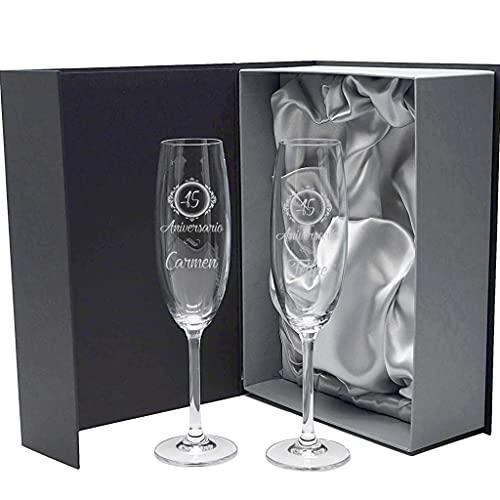 la galaica | Set de 2 Copas de Cristal para champán |...