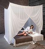 Mosquitera para cama de ALGODÓN 100% para los amantes de tejidos frescos y naturales. Una solución ecológica y eficaz contra los mosquitos e insectos. (200 CS-X)