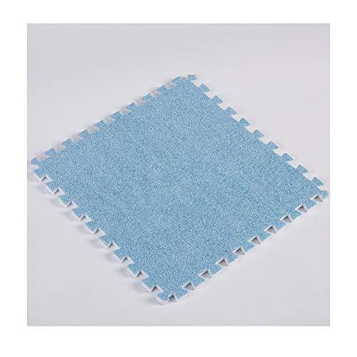 AWSAD Schaumstoff Puzzles Spielmatte Angenehme Berührung Einfache Installation Kindergarten Weicher Boden, 8 Farben, 30x30x1cm (Color : Blue, Size : 8 Tiles)