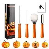 iKALULA Halloween Kürbis Schnitzset, 4 Stück Edelstahl Schnitzwerkzeug Professionelles Kürbis Schnitz-Werkzeuge für Erwachsene und Kinder DIY...