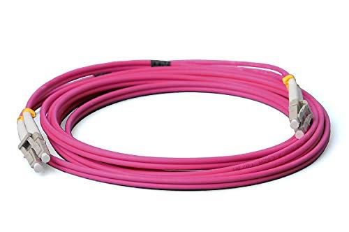 CONBIC® LWL Glasfaser-Kabel – 1m OM4 LC auf LC Stecker, Duplex 50/125 Patchkabel – Lichtwellenleiter 1m