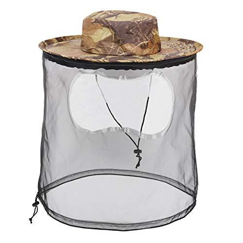 MoKo Sombrero con Mosquitera, Sombrero de Protección Solar UPF 50+ para Exteriores con Malla Transpirable contra Insectos Abeja Mosquito de Senderismo Pesca para Mujer y Hombre - Camuflaje