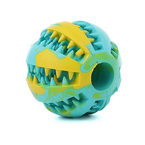Willlly Bola de juguete para perros de goma natural, perfecta para cuidado dental elegante, juguetes inteligentes de calidad premium para perros (color: color, talla única: talla única)