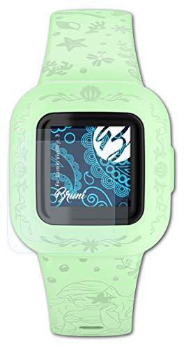 Bruni Schutzfolie kompatibel mit Garmin Vivofit jr. 3 Folie, glasklare Bildschirmschutzfolie (2X)