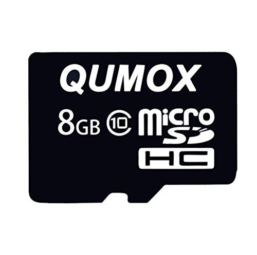 QUMOX 8 GB 8 GB Micro SD HC SDHC Veloce Memoria Carta Classe 10 TF