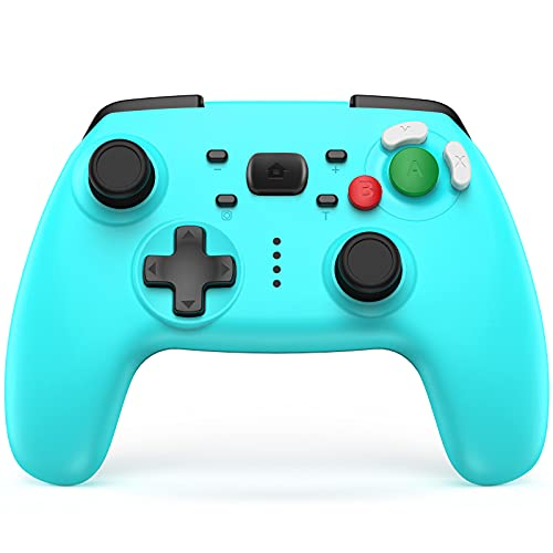 JAMSWALL Mando Compatible para Nintendo Switch, Bluetooth Pro Controller Controlador Inalámbrico con Función Gyro Axis/Dual Shock y Turbo Mando Compatible con Nintendo Switch/Switch Lite/PC