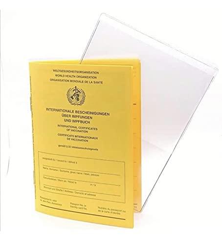 K & M 2021 Set - Internationaler Impfpass für Erwachsene und Kinder mit Covid 19, 28 Seiten nach gegenseitigen Vorgaben + Schutzhülle, Impfbuch, Taschenbuchimpfpass, Impfausweis Corona Impfung