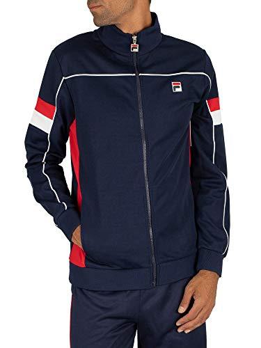 Fila Herren Slalom-Trichter-Trainingsjacke, Blau, M