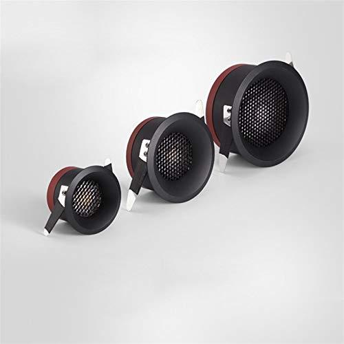 Downlight Lámpara de techo ultra fina antideslumbrante Foco 12W 9W 7W 5W llevó la luz empotrada LED 2020 NUEVO encajado de salón la luz del pasillo ( Body Color : Black , Emitting Color : Warm White )