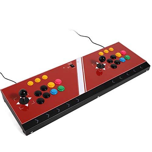DOYO Multi-plateforme Joystick Arcade à deux joueurs, Double Arcade Joystick Compatible avec Nintendo Switch / PS3 / PC / Android / Raspberry Pi / Mini SNK / Mini PS1