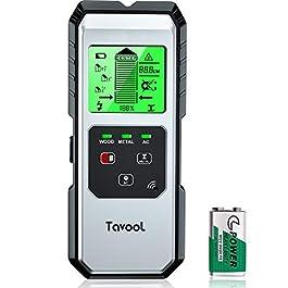 Détecteur de métaux 5 en 1 pour câble électrique en bois et métal avec grand rétroéclairage LCD et étui de protection