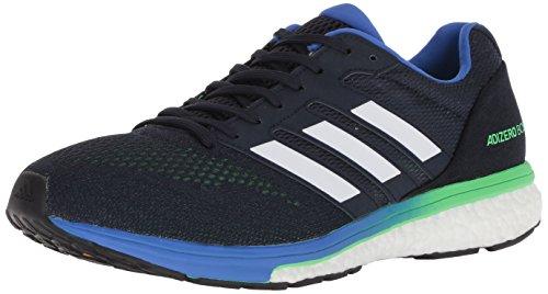 adidas Men's Adizero Boston 7 Running Shoe, legend ink/shock lime/hi-res blue, 10.5 M US
