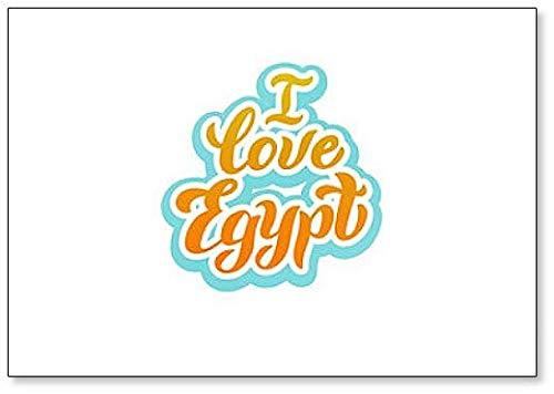 Egypte Welkom Typografie Lettering Koelkast Magneet