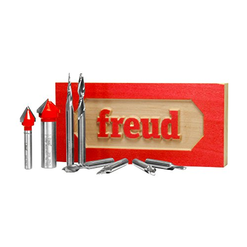 Freud 8 Piece CNC Router Bit Signmaking Set (87-108)