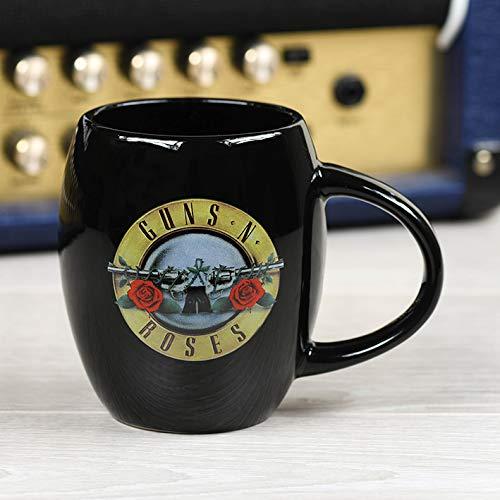 Guns N' Roses MGO25601 - Taza ovalada (cerámica, 425 ml), diseño con texto en inglés