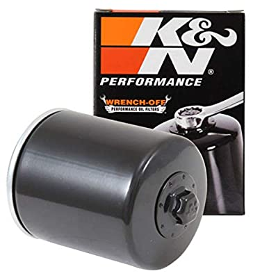 K&N Motorcycle Oil Filter: High Performance Black Oil Filter with 17mm nut designed to be used with synthetic or conventional oils fits 1996-2018 Harely Davidson, Buell Motorcycles KN-171B, Single