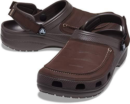 crocs mens Men's Yukon Vista | Slip on Shoes for Men With Adjustable Fit Clog, Espresso, 9 US
