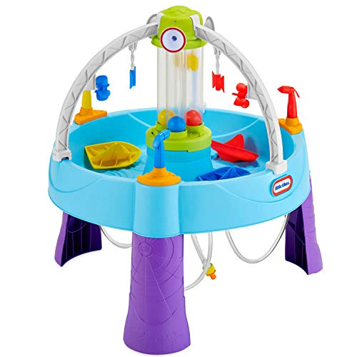 Little Tikes Fun Zone Battle Splash Wassertisch - Outdoor Gartenspiel - Fördert aktives und fantasievollen - Inklusive Boote, Schaufel und mehr - Für Kinder ab 3 Jahren bis 6 Jahren