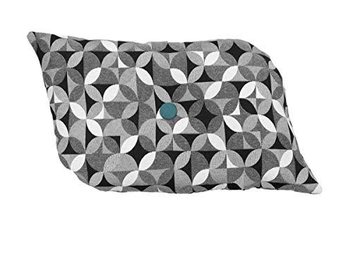 Kissen Dekokissen Wave von Beletage Gobelin Kreise schwarz weiß HM
