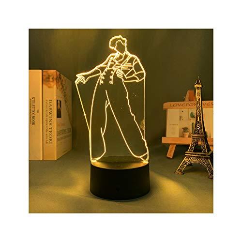 Lámpara De Ilusión 3D, Lámpara De Harry Styles, Regalo para Fanáticos, Decoración De Dormitorio, Luz Nocturna, Sensor Táctil Led, Lámpara De Escritorio De Trabajo Que Cambia De Color