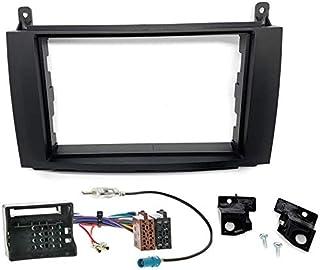 Sound-way Kit Montaggio Autoradio, Mascherina 2 DIN, Cavo Adattatore Connettore ISO, Adattatore Antenna, compatibile con M...