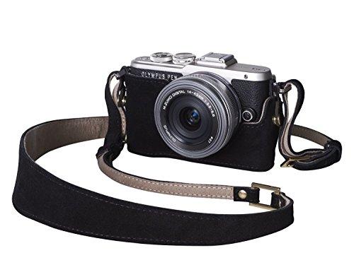 Olympus E0410321 - Funda y Correa Hot Coffee para cámaras E-PL7 y E-PL8, Color Negro