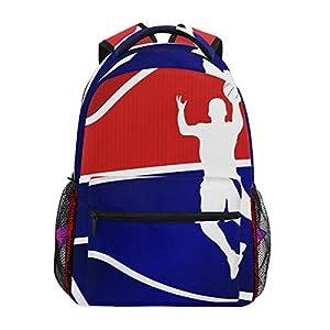 Mochila Escolar de Fondo Azul de Baloncesto para niños, niñas, niños, Bolsa de Viaje, Mochila