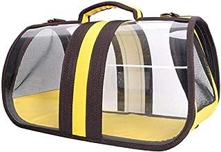 MAOSHE Pet Bag, Dog Cat Bag Portable Pet Travel Dog Carriers Handbag Travel Puppy Carrying Backpack Transparent Shoulder B...
