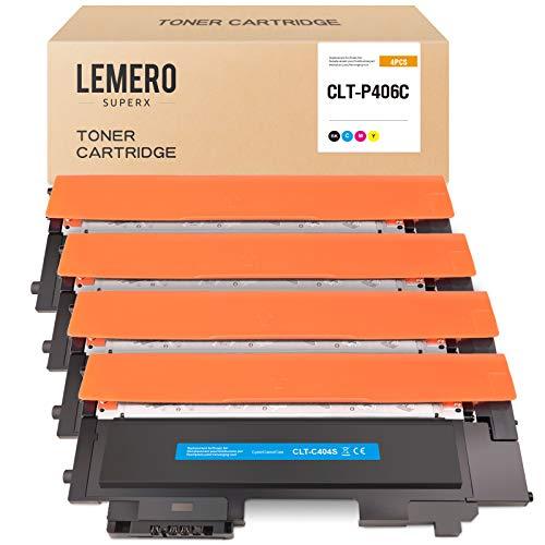 LEMERO SUPERX Toner Kompatibel für Samsung CLT-K406S CLT-C406S CLT-M406S CLT-Y406S für Samsung Xpress CLX-3305 CLX-3305FW CLP-360 CLP-365 CLP-365W C410W C460W C460FW(B/C/M/Y)