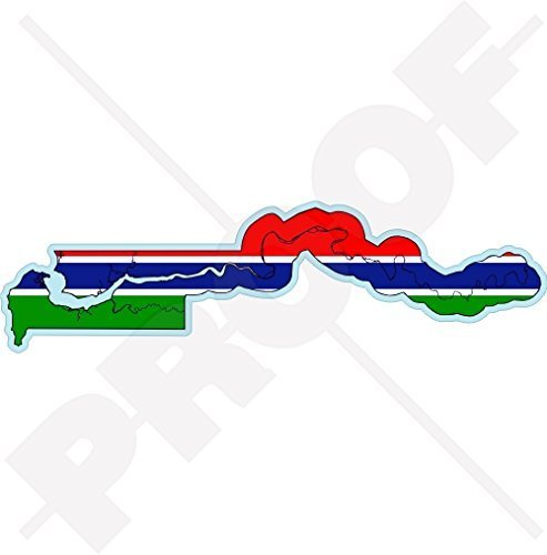 GAMBIA Karten Flagge, Gambian Republik Westafrika, AFRIKANISCH 136mm Auto & Motorrad Aufkleber, Vinyl Sticker