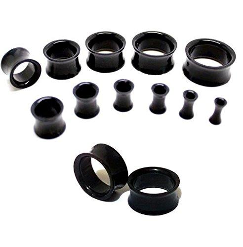 11 pièces plug d'oreille Tunnel écarteur d'oreille en acrylique double écarteurs Lot de 3 mm à 20 mm