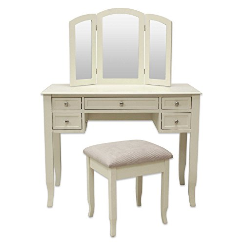 Charlotte 2-Piece Vanity Set with Power Strip and USB in Ivory